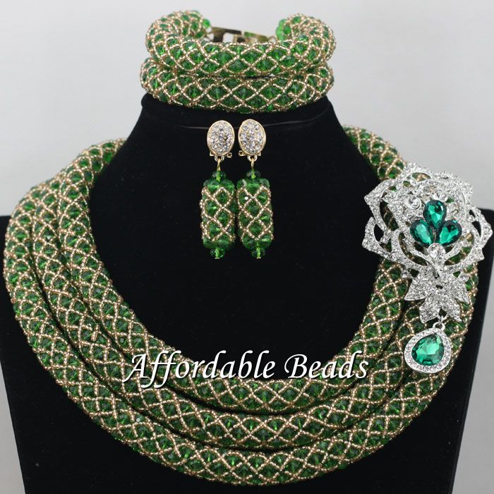 Vintage African Ladies Jewelry Set Hot Sale Beads African Set Charming Design Handmade NCD061Vintage African Ladies Jewelry Set Hot Sale Beads African Set Charming Design Handmade NCD061