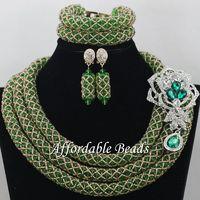 Vintage African Ladies Jewelry Set Hot Sale Beads African Set Charming Design Handmade NCD061
