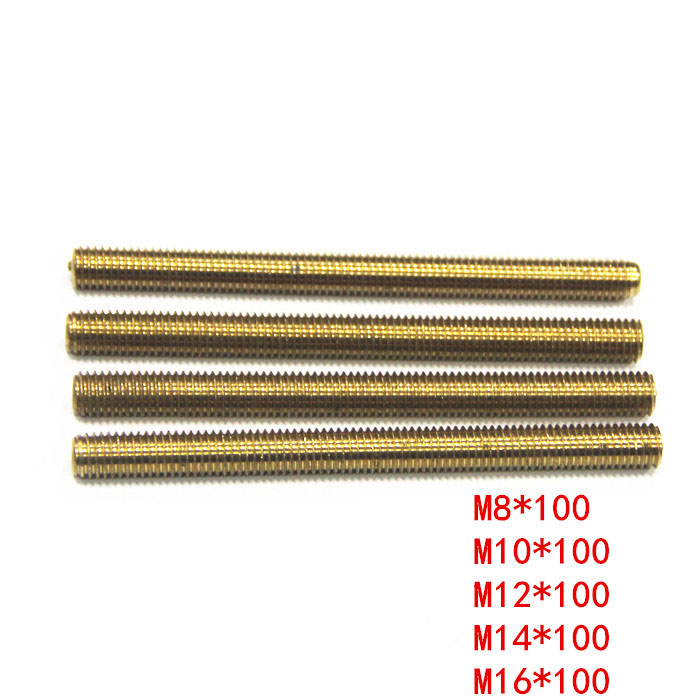 Copper screw Brass tooth bar Copper full tooth screw rod M8/M10/M12/M14/M16 цена