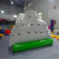 3m Long Pool inflatable toys climbing mountain water iceberg climbing wall water slide floating slide toy