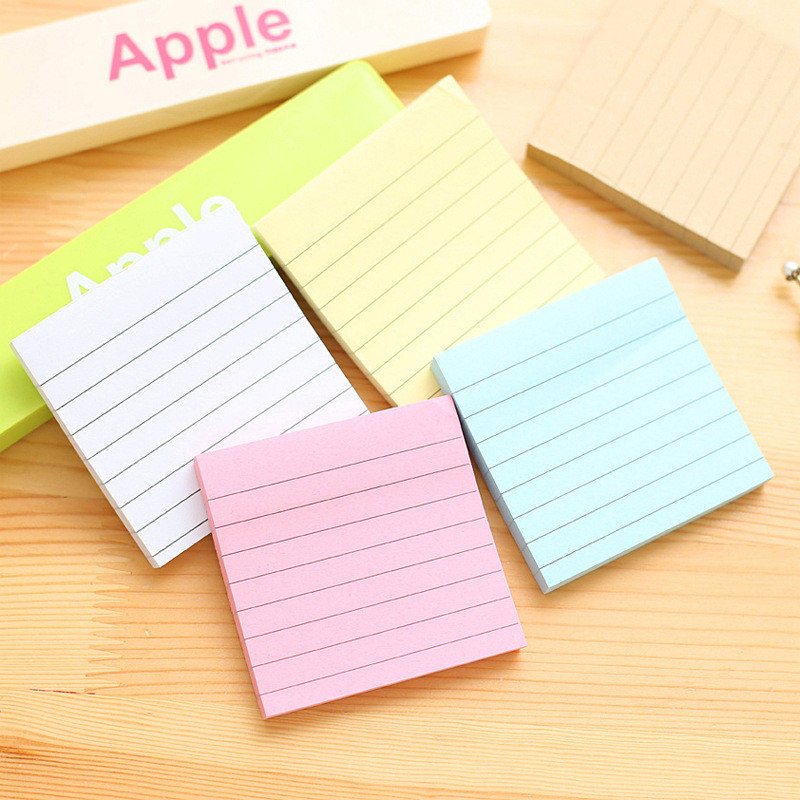 Cute Stripe Memo Pads Stationery Store Post it Note Kraft Paper Bts Notepad Diary Planner Sticker Travel Office School Accessory