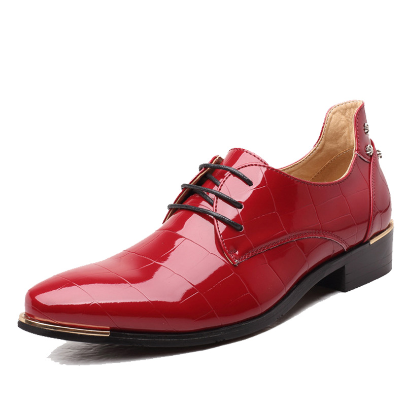 Nice Chaussure Homme Loafers Patent Leather Men Shoes Oxford Shoes For Men Sport Wedding Shiny Shoes Party Club EUR Size 28-68