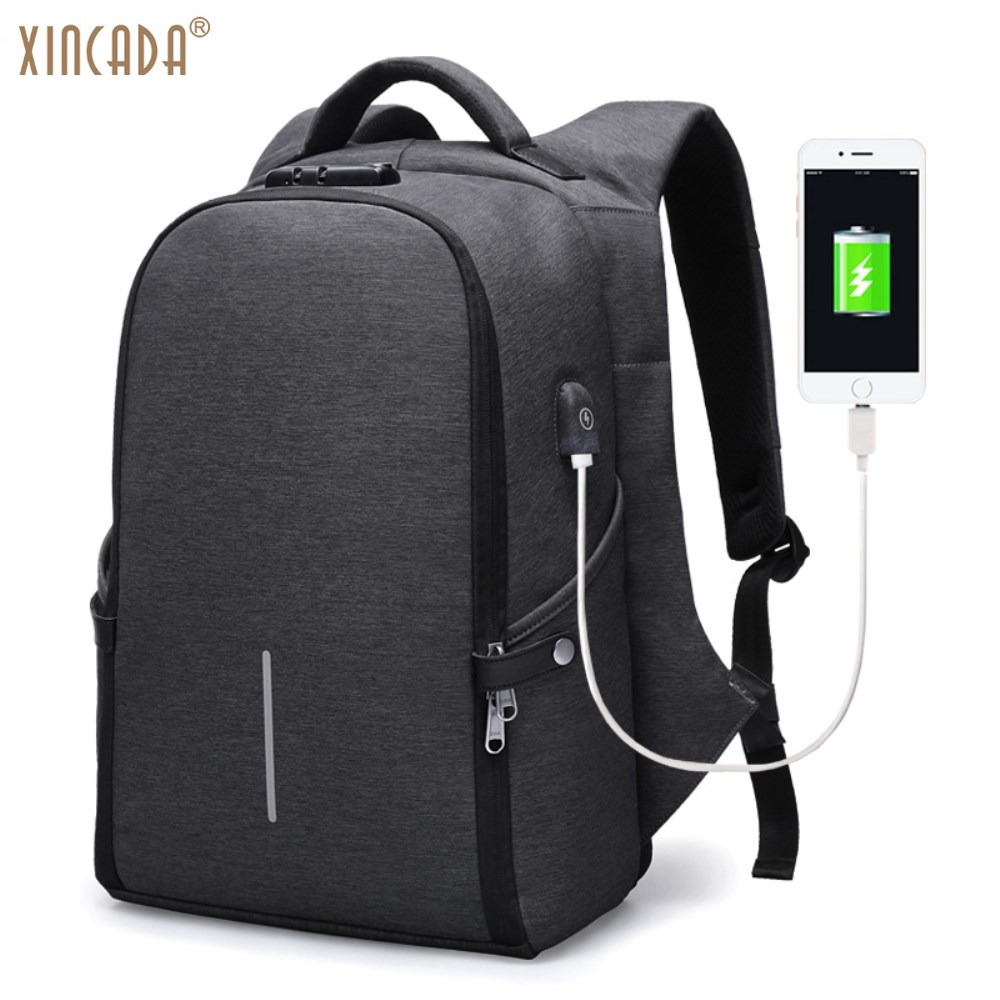 XINCADA Antitheft Backpack Laptop Travel Backpacks School College Bookbag Back Pack with A USB Charging Port xincada men backpack vintage canvas backpack rucksack laptop travel backpacks school back pack shoulder bag bookbag