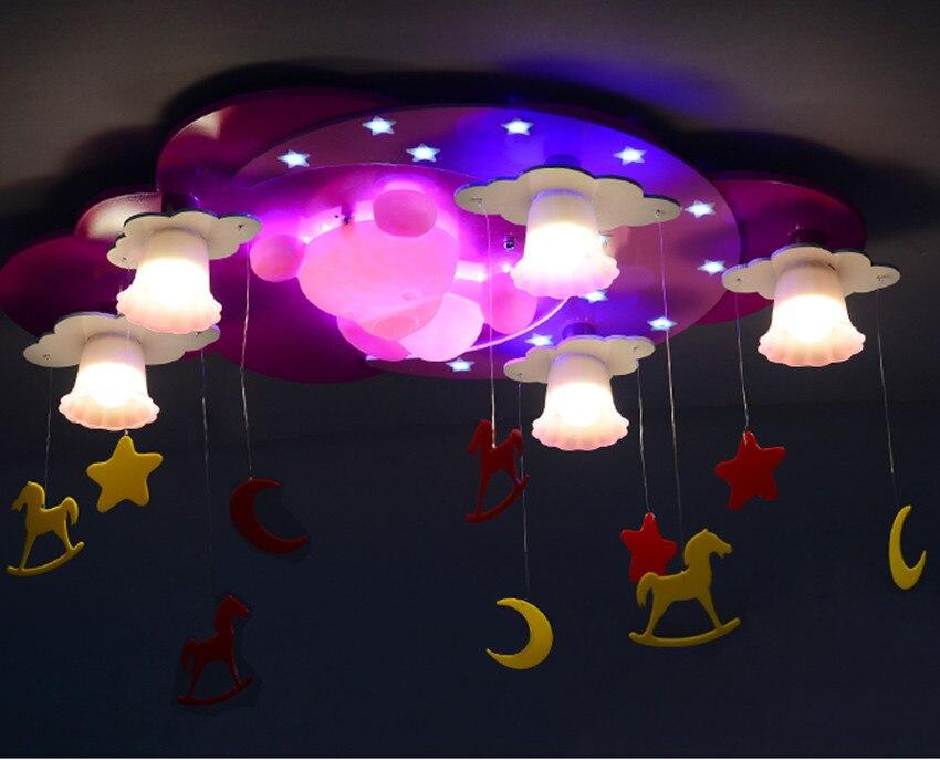 Colore rosa bambini illuminazione della stanza del ragazzo del