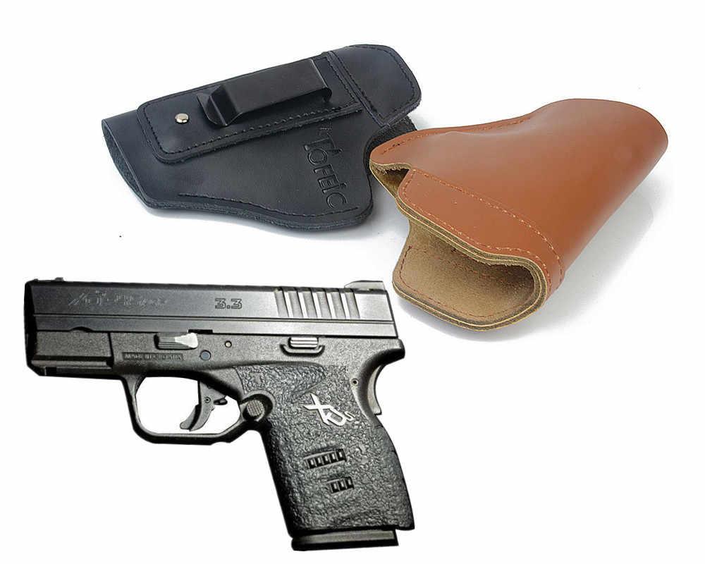 Verdeckte Leder IWB Holster Tragen Gun Holster für Springfield XD Springfield XDS Springfield XDM verschleierung quick draw