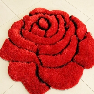 3D stereo roses carpet 90*90cm Living room coffee table mat bed bedroom floor mats European fashion custom-made - Your Home Tailor store