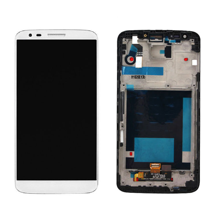 ФОТО White For LG Optimus G2 D802 D805 D800 LS980 LCD Display Touch Screen Panel Digitzer Assembly+Frame Replacement High Quality