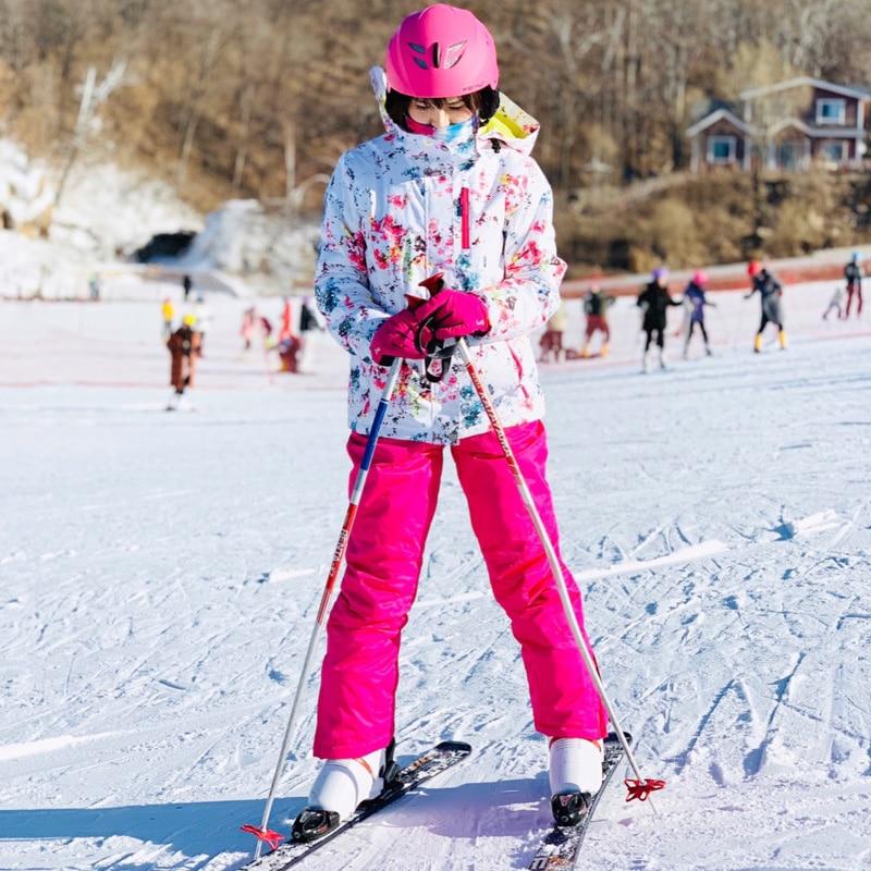 2019 hiver femmes vestes et pantalons de Ski imperméables chauds costumes de Ski femmes Ski Snowboard Ski et Snowboard vêtements marques