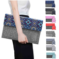 "national style  felt and canvas wave Laptop Sleeve Case for macbook air 11 colour retro dot laptop bag for 11"" 12"" 13"" macbook"