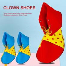 Stage Performance Cosplay Clown Props Clown Adult Clown Shoes Anime Shoes Interesting Big Shoes Halloween Funny Show Shoes 1pair stage performance show clown style mask white red