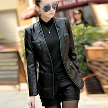 Free shipping !!! 2016 Spring and autumn new slim sheep skin clothing women's fashion genuine leather jacket outerwear / M-3XL