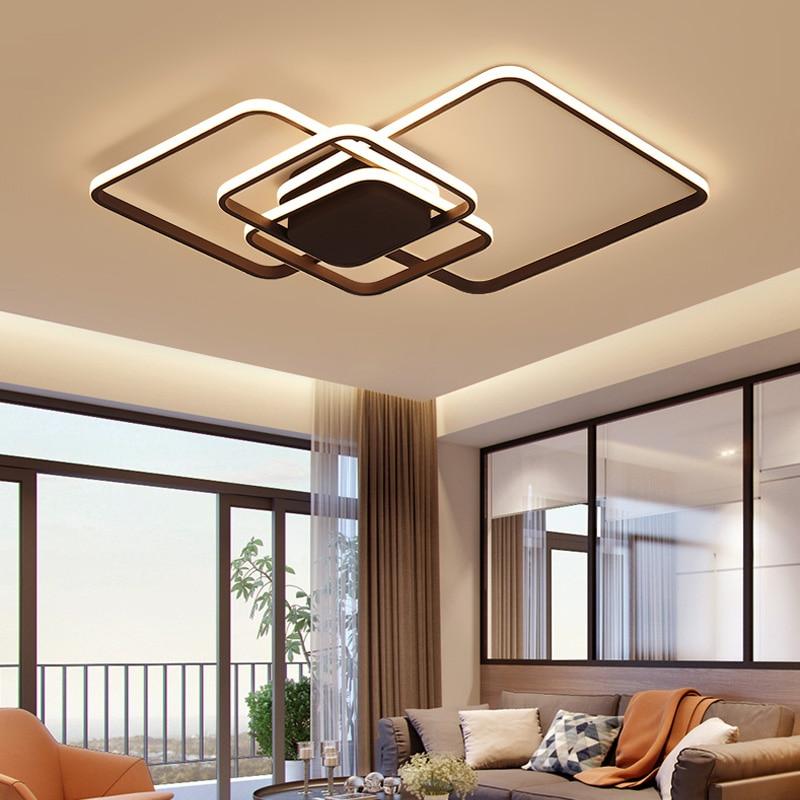 Горячая Современная Светодиодная потолочная лампа для гостиной спальни кабинет lampara de TECHO Led moderna современная светодиодная потолочная лампа