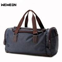 PU Leather Men's Sports Gym Bag for Fitenss Handbag Large Capacity Yoga Bag Single Shoulder Skew Travel Tote