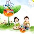 Original Colorido Mini De Madeira Ao Redor Contas Educacional Blocos Brinquedos presentes Do Bebê Brinquedo de Aprendizagem Da Primeira Infância