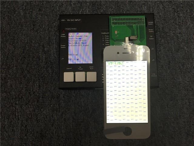 Para o iphone 6 s, 6 s plus, 7, 7 plus, 8, 8 plus LCD Testador Máquina de Teste de LCD e Tela de Toque Testando Máquina Quadro + placa de teste