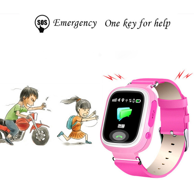 Q90 GPS Child Smart Watch Phone Position Children Watch Anti-lost SOS Call Location Tracker for Smart Kids Safe Watch 5