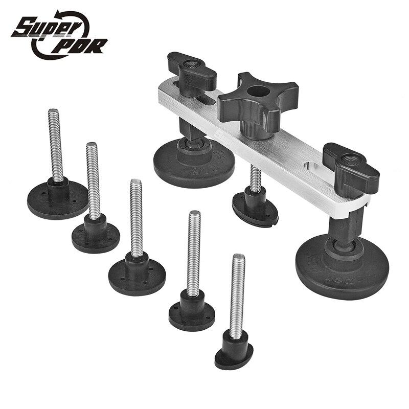 Super PDR herramientas Dent eliminación Paintless Dent reparación pops un Dent Pulling puente para el coche herramienta Instrumentos kit DIY mano herramienta