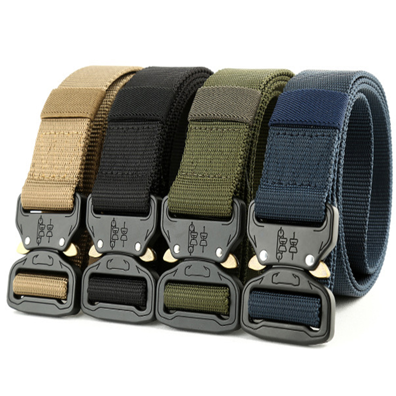 2018 Hot Men's Tactics Military 1000d Nylon Metal Buckle Beats Belt Us Army Soldiers Carry Belt 3.8cm Latest Fashion