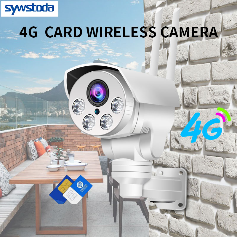 3G 4G SIM Card Camera 1080P 960P 3516C SONY323 PTZ 4X Zoom IR 50M Outdoor Security