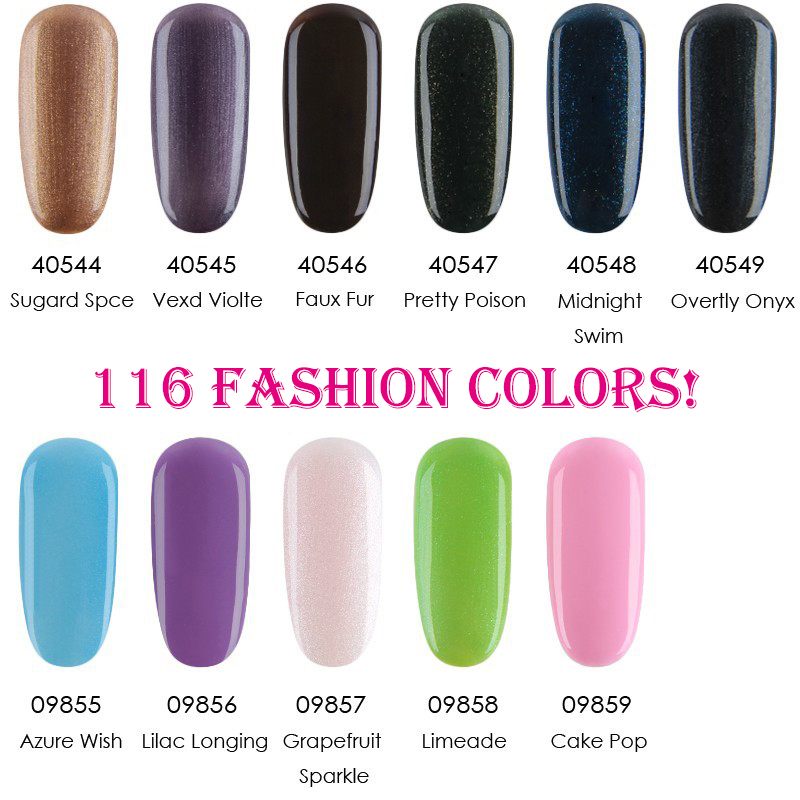 (Any 1pc) Good Quality CND new Shellac Soak Off  Nail Gel Polish 7.3ml 116 Fashion Colors For Salon