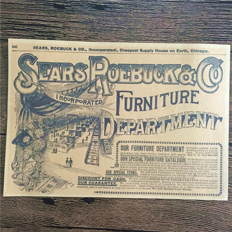 ộ_ộ ༽Promoción DC-005 vintage papel Kraft Sears Roebuck cuadros ...