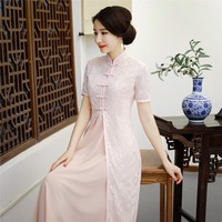 Shanghai Story 2019 New Sale Spring Aodai Vietnam Cheongsam Dress For Women Traditional Clothing ao dai Set Long qipao