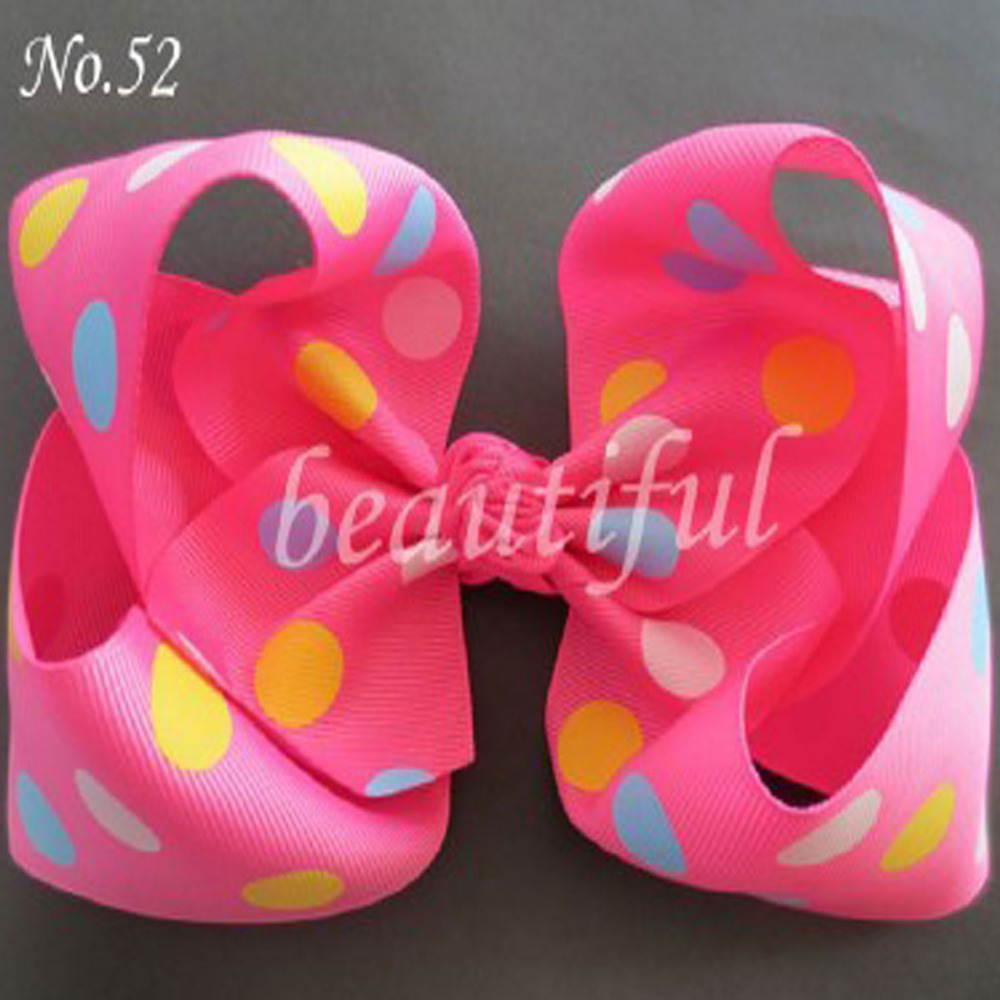 10 BLESSING Good Girl 7 Inch ABC Hair Bow Clip 2.5 Grosgrain Ribbon 79 No. ...