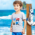 Baby Boy Cotton Tshirt British Short Sleeve T-shirt Tops Tee Clothes Infant Kids Boys Casual Printing T shirt poleras infantiles