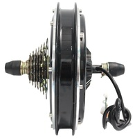 High Quality Electric Bicycle Motor Drive Cycling 36V 48V 750W 350 RPM Brushless Gearless Rear Wheel Hub Motor For Ebike 7 Speed