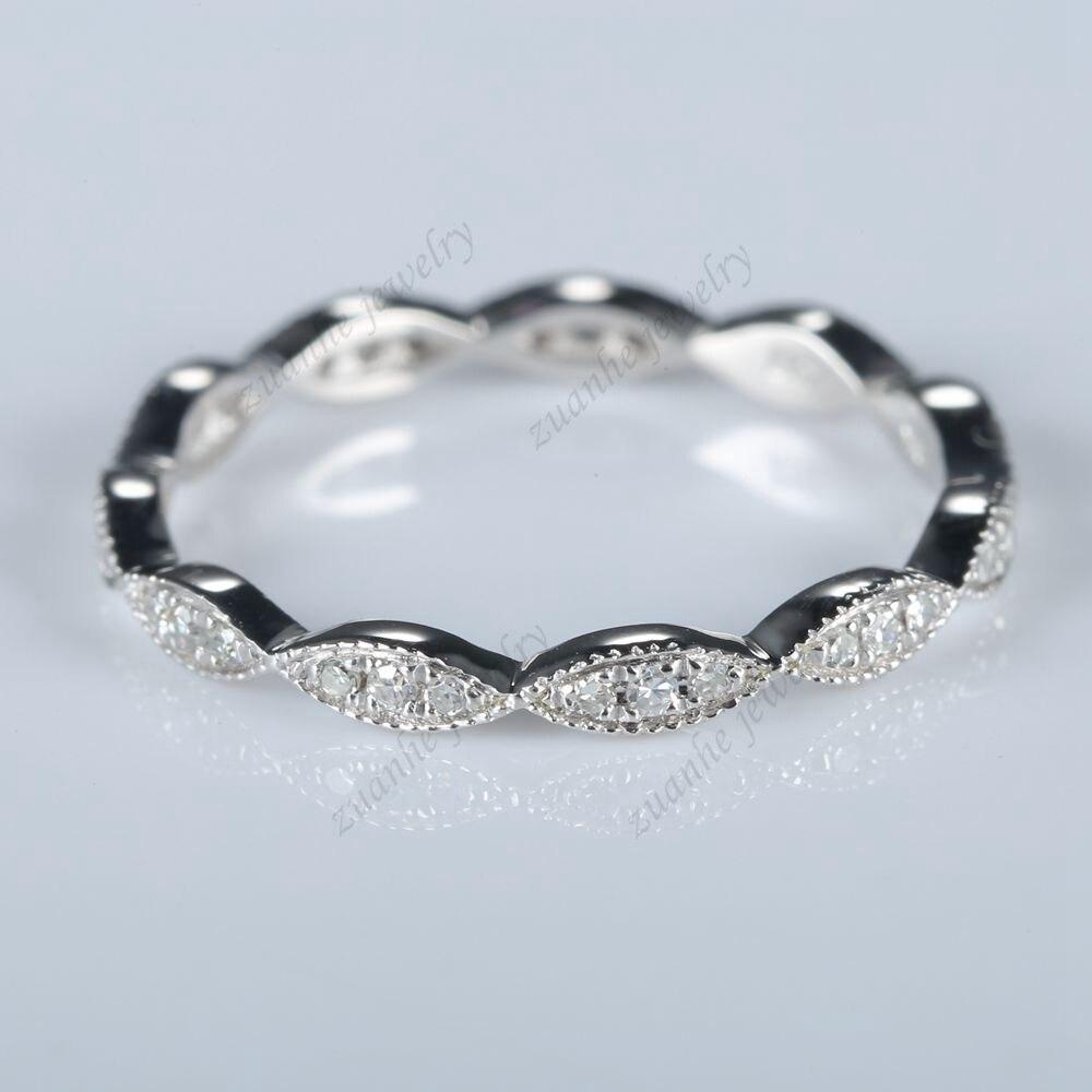 Sterling Silver 925 1/10ct Anniversary Band Milgrain Women Diamonds Ring Size 5Sterling Silver 925 1/10ct Anniversary Band Milgrain Women Diamonds Ring Size 5
