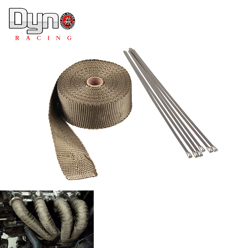 3 METER TITANIUM HEAT WRAP EXHAUST INSULATING HEADER WRAP DOWNPIPE MANIFOLD