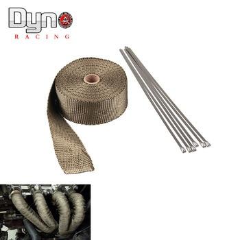 2 *15meter   10meter Thermal Wrap,exhaust insulating warp,header wrap ,exhaust pipe wrap fiber wrap titanium EX005-T-15 header civic eg