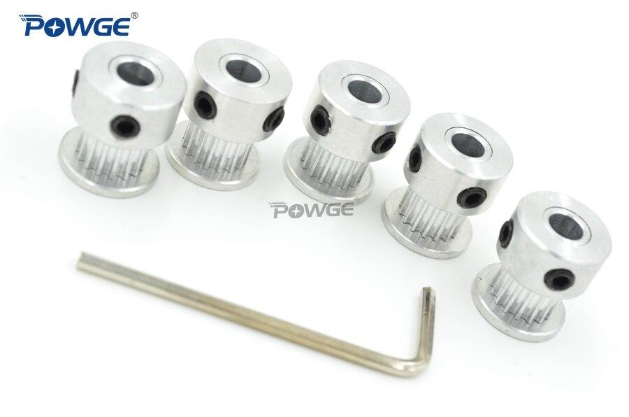 POWGE VORON 3D impresora V2.1 conjunto movimiento GT2 materiales a 2GT polea diámetro 5mm 16 t/20 t/40 t y 110-2GT 188-2GT bucle abierto cinturón - 3
