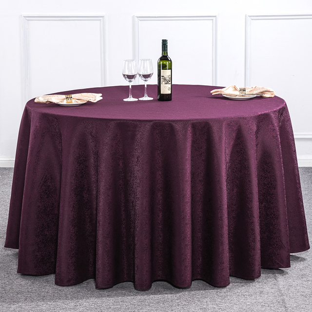 Polyester Round Tablecloth Rectangular Dining Table Cloth Hotel Wedding Table  Cloth Machine Washable Square Fabric Cloth