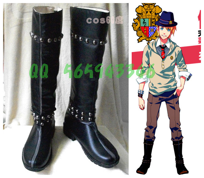 7c42026271b7c US $41.1 8% OFF|Uta no Prince sama Syo Kurusu Black Long Cosplay Costume  Boots Shoes S008-in Shoes from Novelty & Special Use on Aliexpress.com | ...