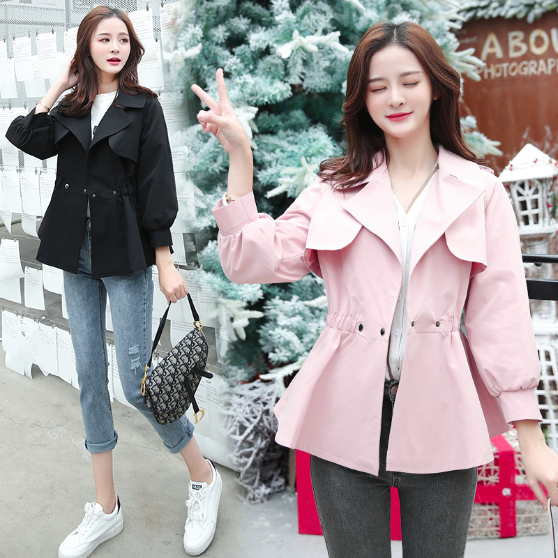 b new Long suit jacket women spring and autumn 2019 long section one button collar slim woman coat