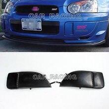 2 Adet/takım Siyah Ön Sis Lambası Kapağı Lambası Trim Subaru Impreza WRX 04-05 Boyasız Için Fit