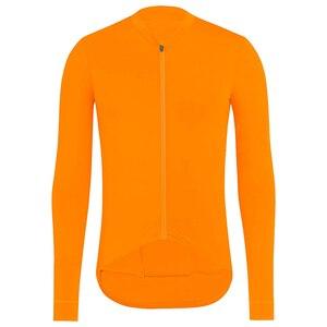 Image 3 - Completa ciclismo invernale pro equipe 2020 inverno velo térmico manga longa jérsei conjunto laranja mtb bicicleta maillot ciclismo