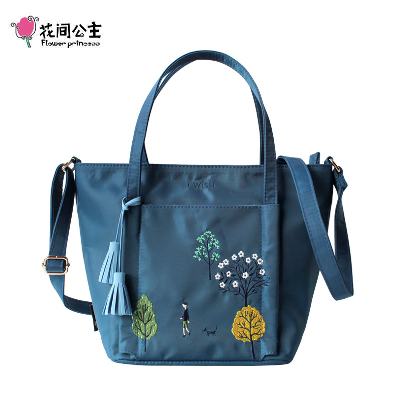 Flower Princess Women Shoulder Bags Female Casual Messenger Bags Tote Bags High Quality Tassel Girls Handbags