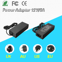 EU US UK AU AC Converter Adapter For DC 12V 5A 60W LED Power Supply Charger