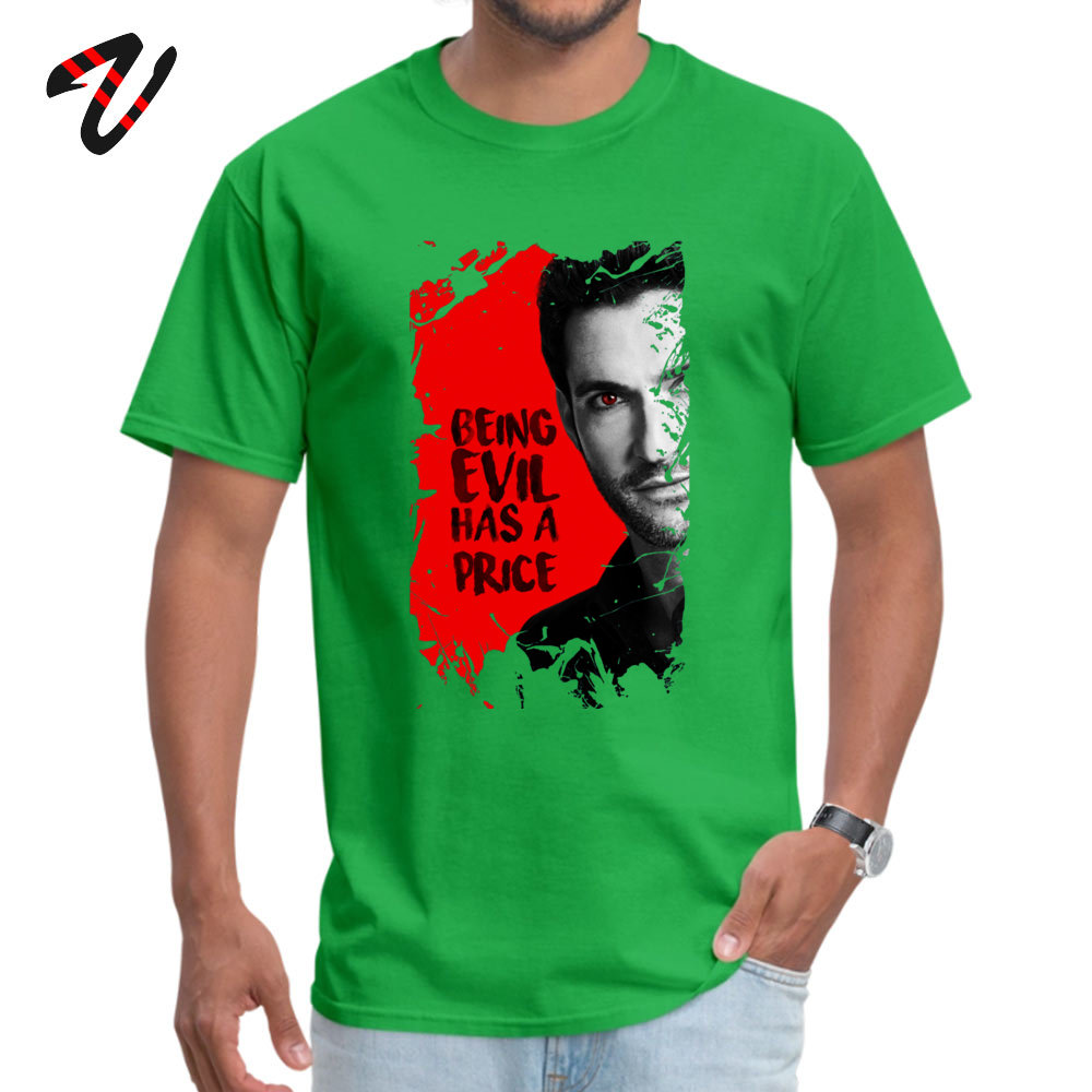 Lucifer Top T shirts Cute Indonesia Sleeve Custom Pure Peace Crew Neck Men Tops Shirt Group T Shirt Thanksgiving Day in T Shirts from Men 39 s Clothing