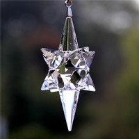 Newest 1pcs 89mm Transparent Crystal Icicle Pendant Cars Interior Accessories Ornaments Christmas Tree Hanging Decoration Gifts