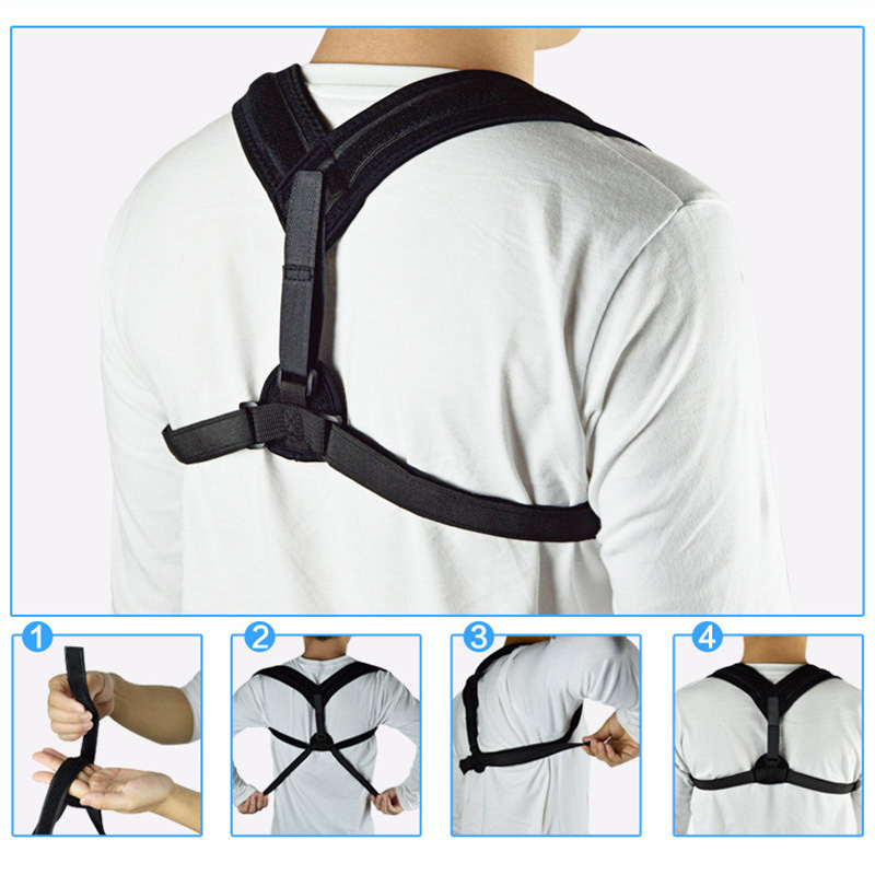 Upper Back Posture Corrector Clavicle Support Belt Back Slouching Correction Spine Braces  Scrub & Bodys Treatments