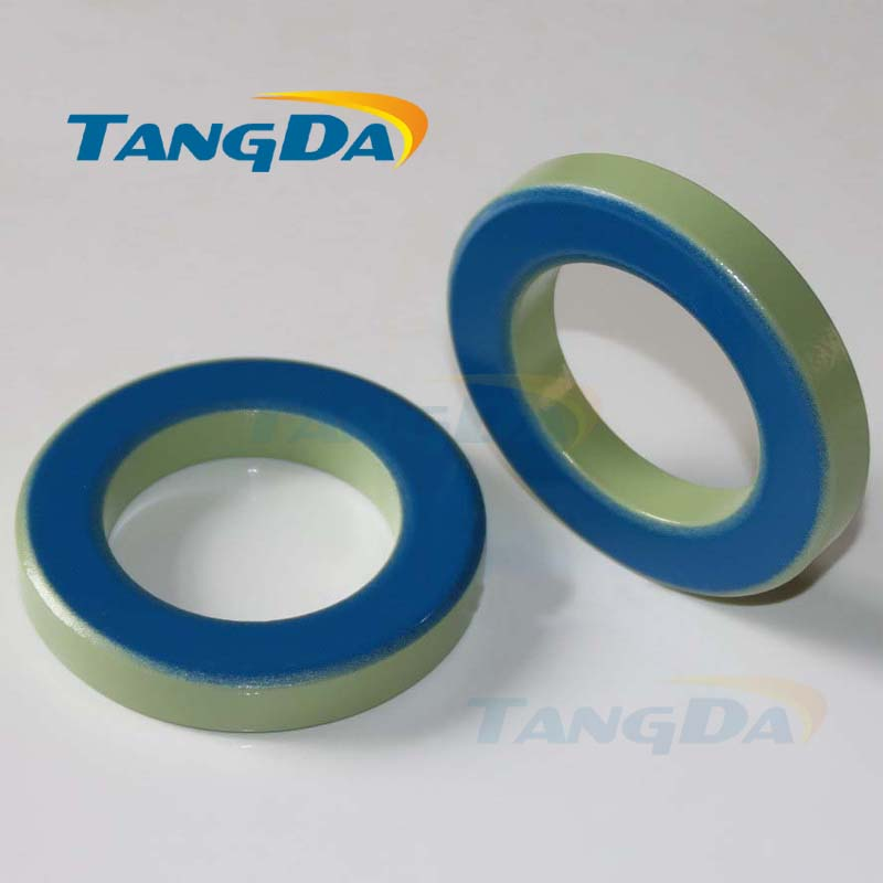 T300 KT300-52 Iron powder cores T300-52 OD*ID*HT77*49*12.7mm 80nH/N2 75ue Iron dust core Ferrite Toroid Core toroidal green blue transformers ferrite toroid cores green 74mm x 39mm x 13mm