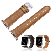 Leather Watch with For Apple Crazy Horse Business for Iwatch Strap 1/2/3/4 Generation Universal