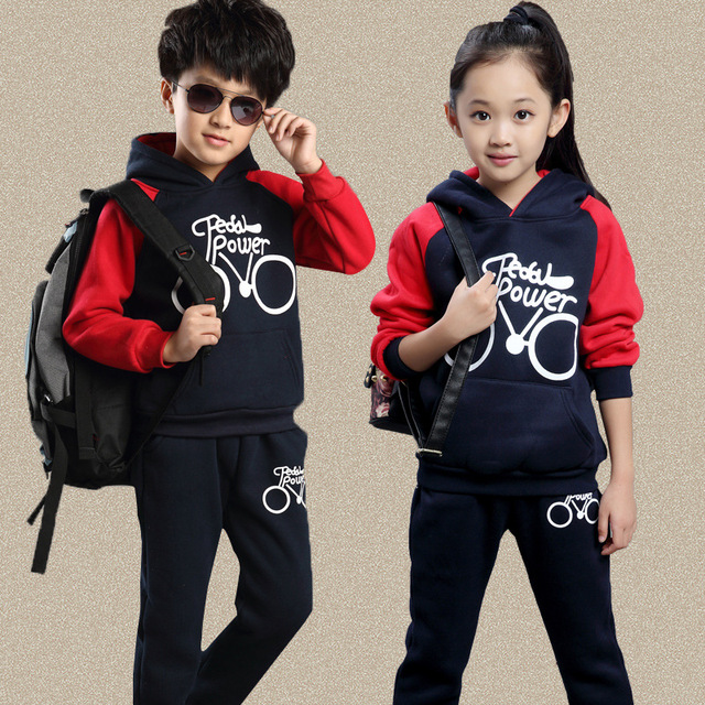 e7e405bdaa17 New Arrive Children Sport Suit 2 Pcs Set Girls And Boys Cloth Brand ...