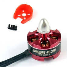KINGKONG 2205 2300KV 2-4s Burshless Motor CW CCW Rotation Black / Silver Head with Motor Mount for FPV Racing Drone Quadcopter