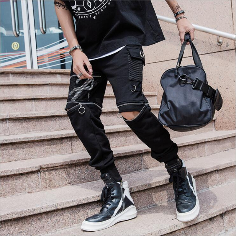 Trousers Jogging Pants Street Europeand Men's Fashion Hip-Hop The-United-States Tide-Brand