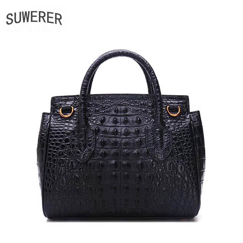 Rindsleder Hohe Krokodil Tasche Modische Produkte 100 Luxus Black Designer Neue Qualität Schulter Hochwertige Suwerer100 2018 aqCwz8xz