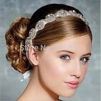 2017 nowa Sprzedaż Hurtowa i Detaliczna moda kryształowe koraliki handmade opaska elastyczna hairband akcesoria do włosów ślubne dla nowożeńców